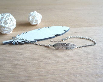 Bohemian feather bracelet silver color metal star gift cheap