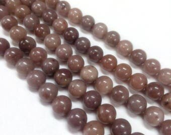 50 8 mm purple Aventurine beads