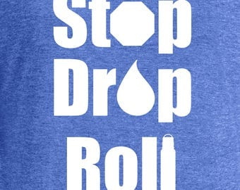 Stop Drop Roll Essential Oil Soft V-Neck Shirt