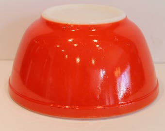 Very Glossy Red Primary Pyrex Bowl #402 - Red Vintage Pyrex Bowl - Nesting Bowls