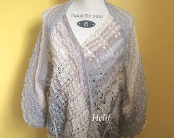 Shades of beige, fall, jacket Oversize Mohair collection, beige, blue, Enjoy