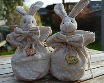 set of 4 sachets rabbits