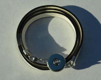 chunk of White Leather Bracelet