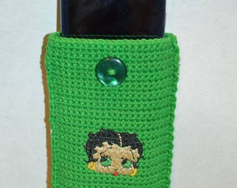 Betty boop bag or pouch green 14 / 9 cm