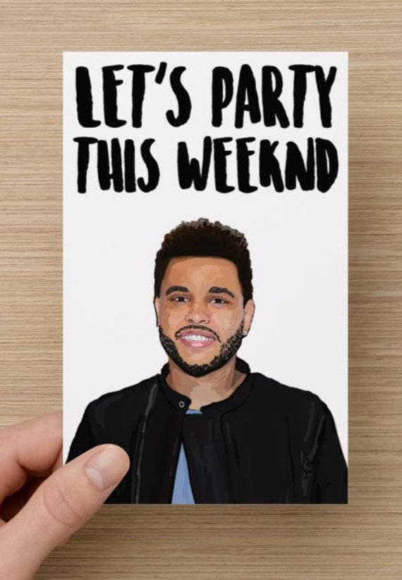 The Weeknd Card Birthday Card Party Card Kanye West Rapper – Bruce Springsteen Birthday Card