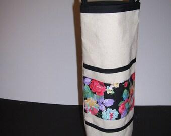 LINEN WINE BAGS - floral linen wine bags - floral wine bags - floral wine gift bags - floral wine tote bags - floral linen bags -