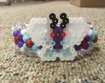 Butterfree Pokemon Kandi Cuff Bracelet