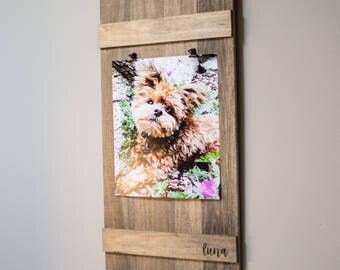 Picture Frame - Modern Farmhouse -Wood Picture Frame-Modern Picture Frame-Frame-Rustic Frame-Farmhouse Frame-Handmade-Farmhouse-Wood-Gift