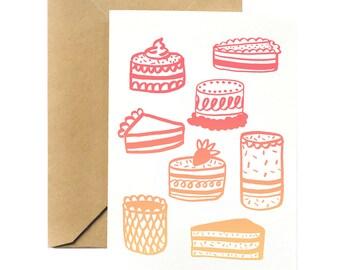 Birthday Greeting Card | Cakes