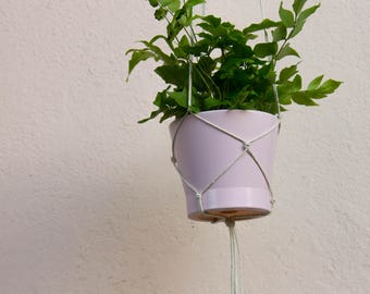 Modern Hanging Planter - White