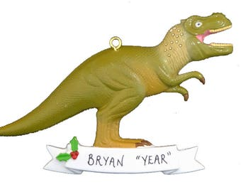 Personalized Dinosaur Christmas Ornament - Tyrannosaurus Rex Personalized Ornament - Dinosaur Lover Ornament