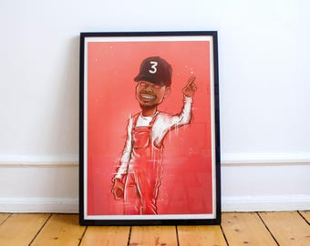 Chance the Rapper illustration - Print / Poster