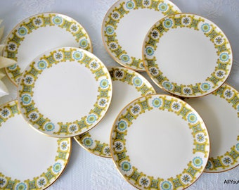 Avalon by Royal Stafford, Retro China Plates, Vintage Dessert Plates, Mid Century China Plates, Vintage Royal Stafford, Vintage Wedding,1950