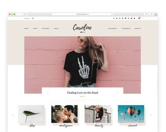 Caroline - Wordpress theme - Wordpress Template - Responsive WordPress Blog Theme - Shop Template  - Woocommerce - Fashion - Photography