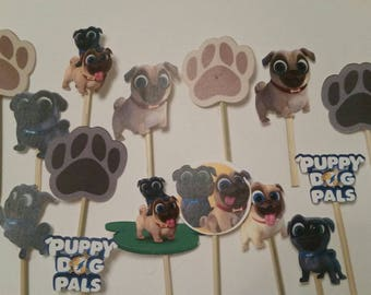 Puppy dog pals cupcake toppers