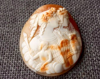 This is a very rare stunning quality large antique victorian Georgian loose cameo