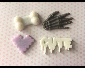 Pastel Goth Creepy Cute Magnet Set