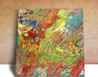 Fluid Acrylic Canvas, Acrylic Pour Art, Acrylic Wall Art, Fluid Acrylic Art For Sale, Fluid Acrylic Art, Fluid Abstract Art, Fluid Acrylic