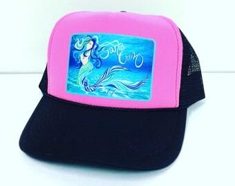 Mermaid Eve Under Water Trucker Hat