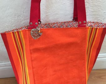 large tote, beach or weekend fabric