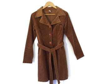 Vintage Corduroy Coat/70s Corduroy Coat/70s Trenchcoat