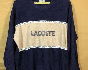 Vintage LACOSTE Sweatshirt Spell Out Adult Large Size