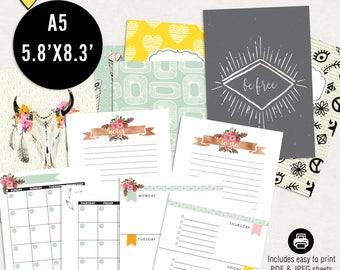 Bohemian planning kit - Printable a5