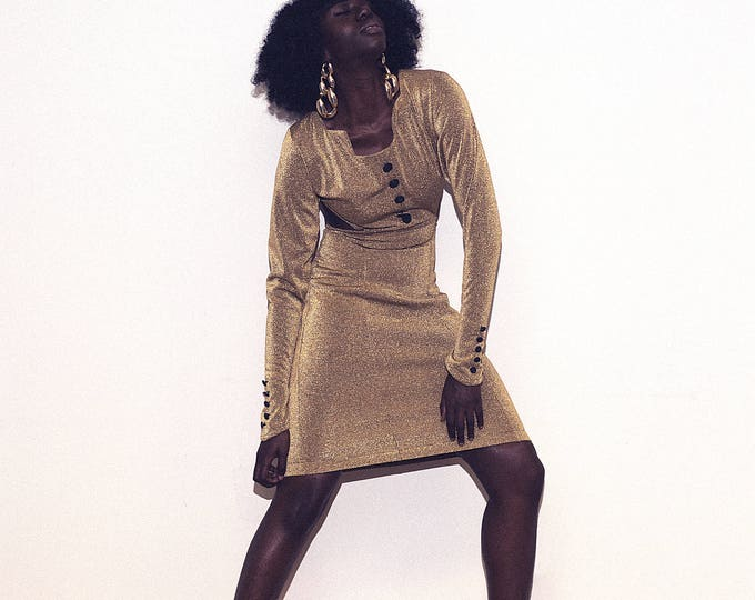 Vintage Gold Dress