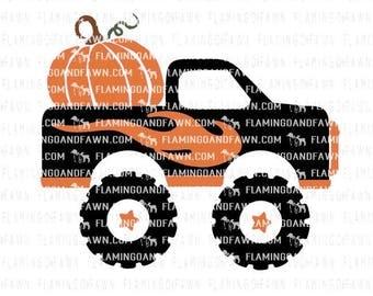 svg fall truck, Monster truck svg, fall truck svg files, pumpkin truck svg, boy truck svg, svg truck with pumpkins, svg monster truck, truck