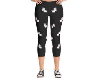Unicorn crop leggings / Unicorn / Unicorn leggings / Leggings / Printed leggings