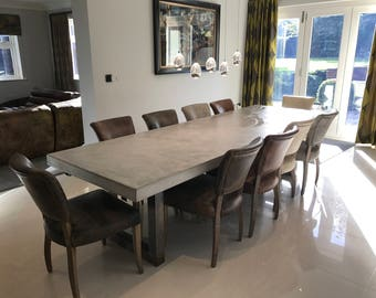 Polished Concrete Dining Table Extendable