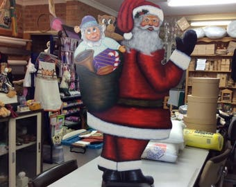 Large Santa on a Stand