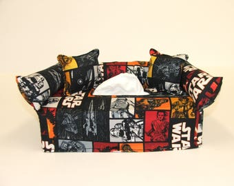 Star Wars Designer fabric tissue box cover.