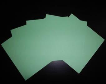 set of 5 Green origami paper Apple 12 x 12 cm