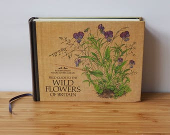 Vintage Readers Digest Field Guide To The Wild Flowers of Britain Display Books Retro Boho Display Books Old Books Vintage Garden Books