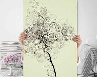 Minimalist, Tree, Modern, Abstract - Printable, Boho, Zen Art - Meditation, Mindfulness