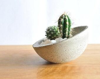 Pot en béton, Pot à plante, Porte objets, Conteneur décoration, Porte-bougie,  Porte-bijoux, Nature et zen, pot pour Cactus