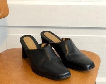 Liz Claiborne vintage leather mules