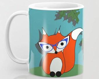 Autumn Fox Mug Acorn