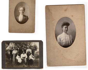 lot of four large cabinet card photos
