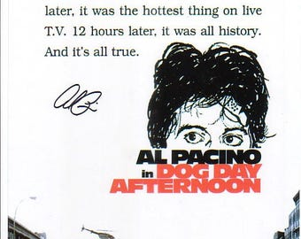 Al Pacino Signed Autographed Dog Day Afternoon Bank Robbery 8 x 10 Color Photo