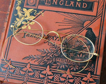Antique Gold Wire Spectacles Eyeglasses