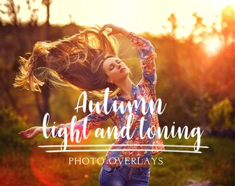 Autumn toning color and light photo overlays, autumn overlays, light overlays, toning overlays