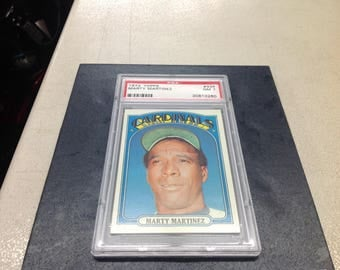1972 Topps Marty Martinez PSA graded NM 7
