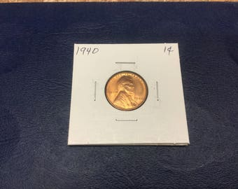 1940 Lincoln wheat cent - Uncirculated
