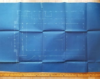 Original 1909 blueprint for historic Seattle Union Station train depot!! Rare architectural item of historic significance