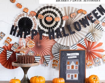 Halloween Home Decor Kit | Halloween Party Decorations Friendly Inside Halloween Decor Vintage Cute Halloween Decor Halloween Party Backdrop