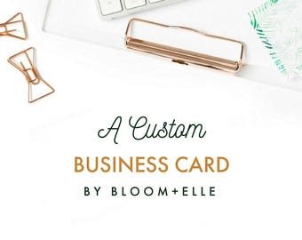 BUSINESS CARD DESIGN | Custom Personalized Calling Cards Modern + Chic