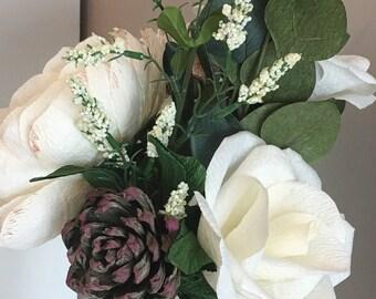 Paper flower arrangement