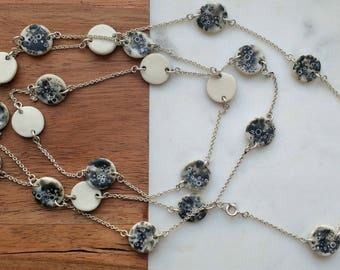 Luna Chain- Porcelain and sterling silver